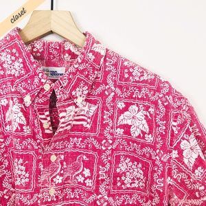 [Reyn Spooner] Red/White Pullover Hawaiian Shirt